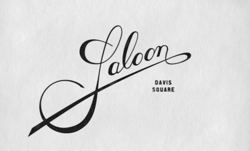 saloon restaurant logo sketch