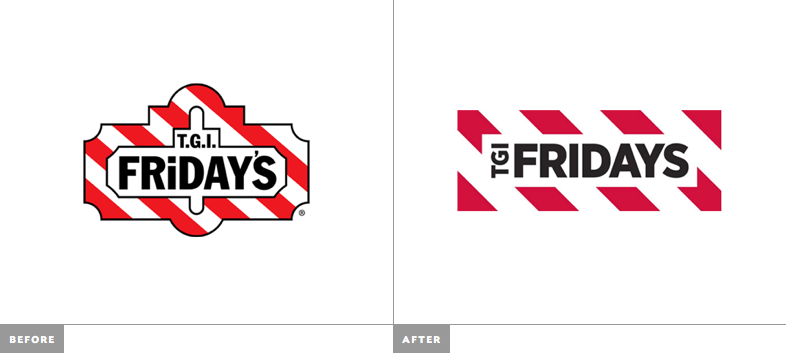 TGI Friday logo redseign
