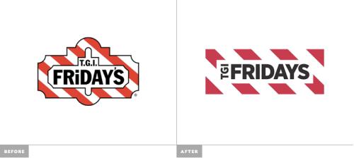 TGI Friday logo redseign