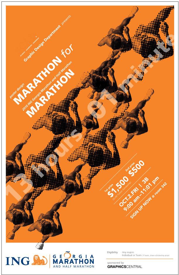 design marathon poster