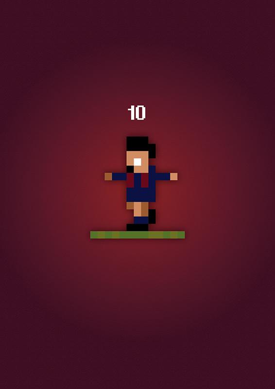 Lionel Messi Sensible Soccer Poster