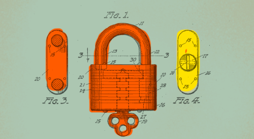 lock illustration, diagram for protection